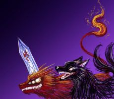 Two Hounds by LittleDarkDragon