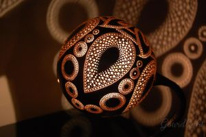 Handcrafted Gourd Lamp - Table lamp VI- Gourdlight by gourdlight