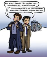 Cas vs Captain Jack Harkness by blackbirdrose