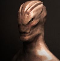 simple Alien  ( shader test 2 ) by Kriegerman