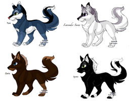 Fox Point Adoptables by NyamburaDawn