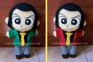 Lupin plushie by VioletLunchell