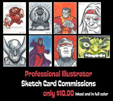 sketch card commissions by mikeorion22