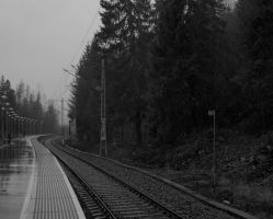 Waiting for a train by hapg