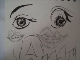 Eyes and Lips sketches by McMuffinNinjaFluffer