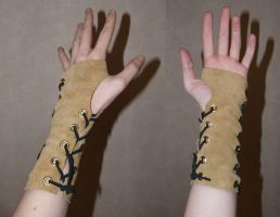 Leather Faun Armlet by dragonfyredawn