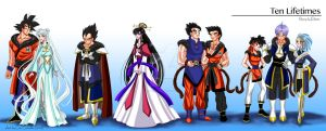 Ten Lifetimes: Character line-up by GND-KicaCris