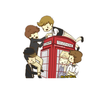 One Direction Animado PNG by EeliiswagEditions