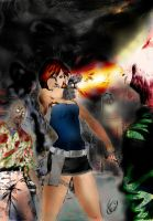 Resident_Evil_3_Jill_Valentine_Digital painting by Luci-Carneiro