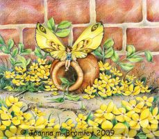 Yellow Blossom Wings by JoannaBromley