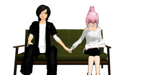 mmd just be friends by Littleaerith2140