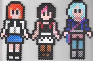 Perler Scott Pilgrim Girls by missy-tannenbaum