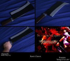 Rena's Cleaver from Higurashi When They Cry by Minatek616