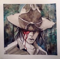 Carl Grimes by Colorsafebleach