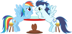 Rainbow Dash and Soarin' - Lovey Dovey [Updated] by BobtheLurker