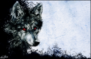 .:Red Eyes:. by WhiteSpiritWolf