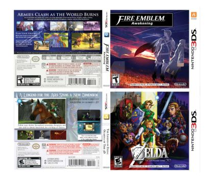 Recreated/Redesigned 3DS covers by MonicaJohnson0647
