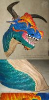 Dragon Bust Sculpture by R-Eventide