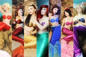 sisters mermaids and Ariel by Nemu013