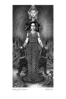 Black and White Hekate by ThaliaTook