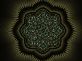 Mandala in Pewter by janinesmith54