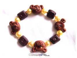 Chocolate Teddy Bear Braccelet by Cateaclysmic