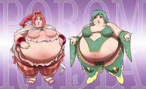 Porom and Rydia by SeriojaInc
