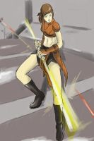 Bastila - Action Portrait by Radavik