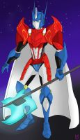 Sir Optimus Prime of the Autobot Knights by PurrV