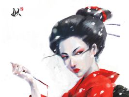 The Geisha by xiuyuan