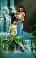 Toph and Katara by Engarda