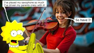 Lisa Simpson and Lindsey Stirling by QuantumInnovator