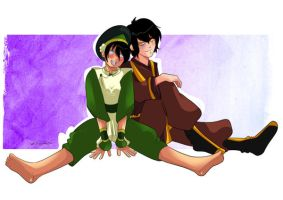 Zuko and Toph by lufidelis