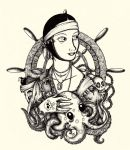 The Lady with the Octopus by inkarts