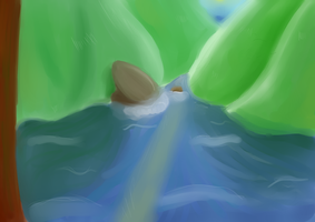Attempt at a painting by tsandere