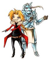 Elric Brothers by evilitachi