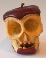 skull apple rotting by JoeyHawks