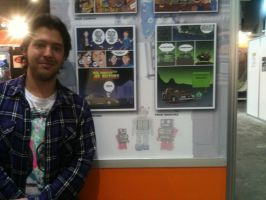 Me with my pages in the comic lounge Barcelona 12 by zero-maister