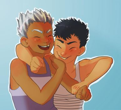 Smol BoKuro Friendship by h4e