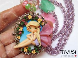 Floral Fairy on cameo by tivibi