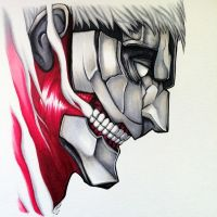 Armored Titan Copic Marker Drawing - AoT Fan Art by LethalChris