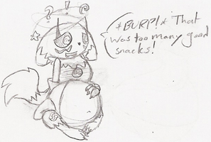Sketch: Renako is Stuffed by Ambipucca