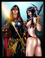 Magdalena and Vampirella by paulosiqueira - Colors by TrinityMathews