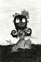 Soot Girl and the dust bunnies-Charcoal by Lttle-Horrors