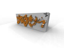 3d Graffiti steez by mrecko999