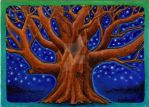 ACEO Lonely Oak Tree by MandarinMoon
