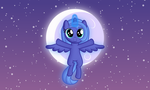 Little Luna raises the moon by imageconstructor