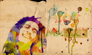 Bob Marley Watercolor Poster by sol0dolo