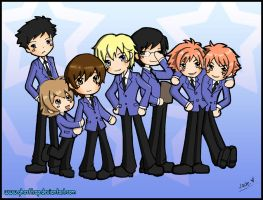Ouran Host Club collaboration by GhostTrap