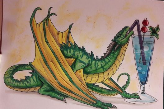 Second Cocktail Dragon by Ariade